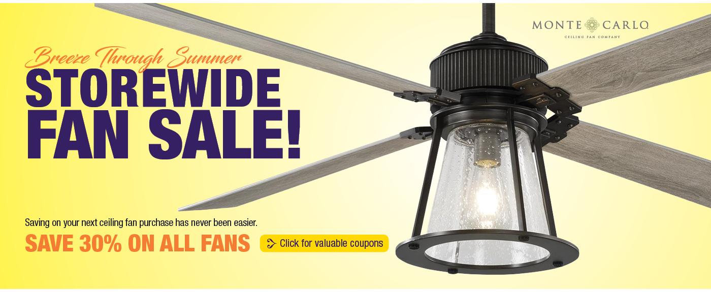 Storewide Ceiling Fan Sale