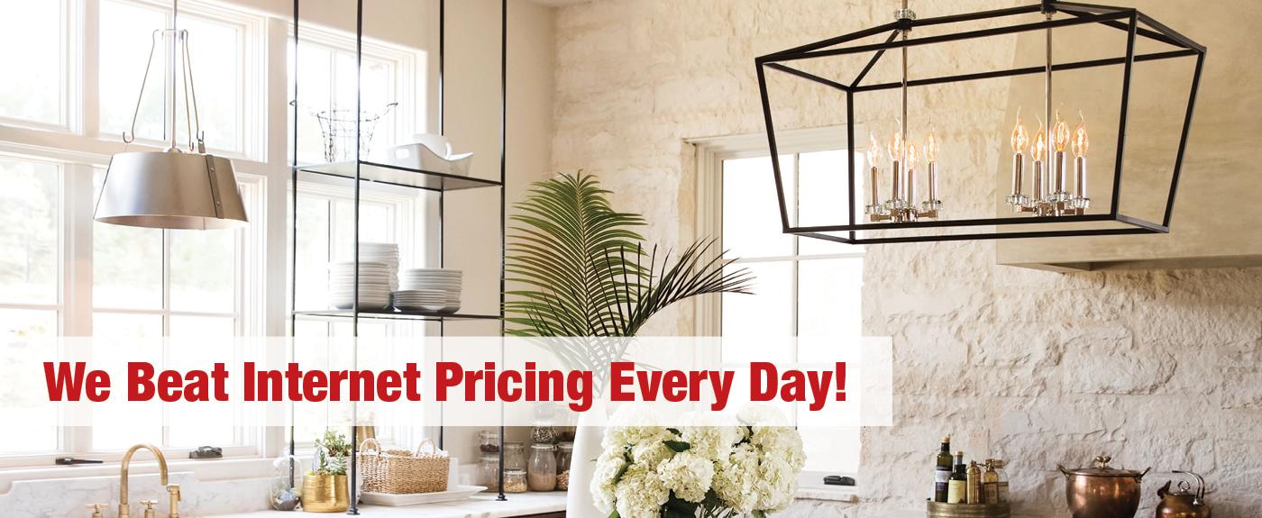 We Beat Internet Pricing on lighting